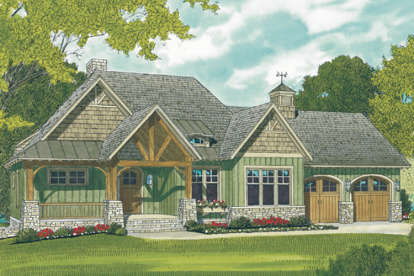 3 Bed, 4 Bath, 2764 Square Foot House Plan - #3323-00614