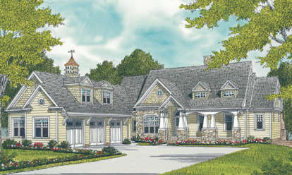 4 Bed, 4 Bath, 3754 Square Foot House Plan - #3323-00625