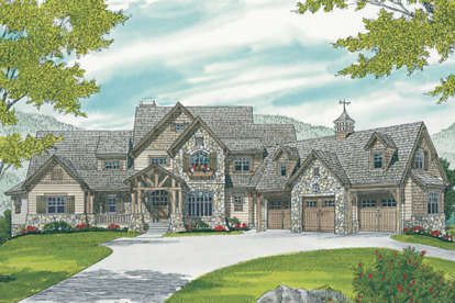 4 Bed, 4 Bath, 5260 Square Foot House Plan #3323-00639