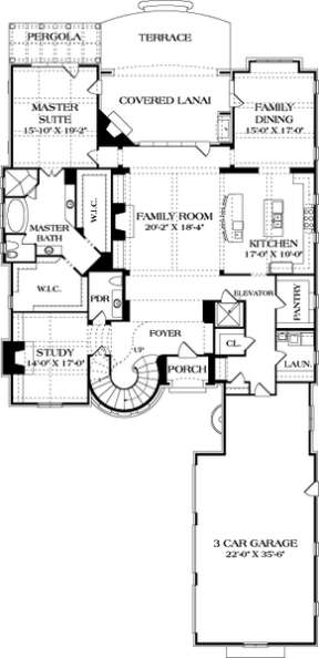 Main Floor Plan for House Plan #3323-00641