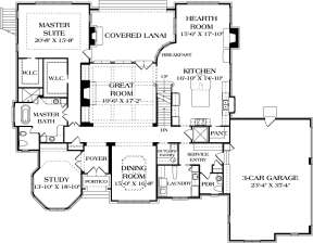 Main Floor Plan for House Plan #3323-00645