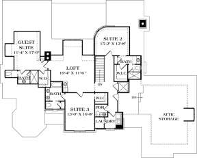 Upper Floor Plan for House Plan #3323-00645