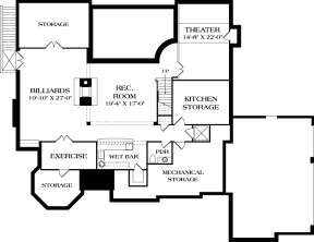 Basement Floor Plan for House Plan #3323-00645