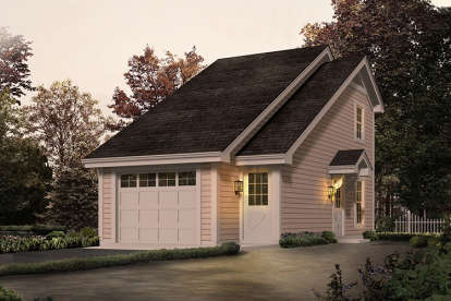1 Bed, 1 Bath, 656 Square Foot House Plan - #5633-00236