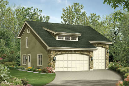 1 Bed, 1 Bath, 713 Square Foot House Plan - #5633-00237