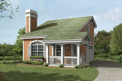 1 Bed, 1 Bath, 641 Square Foot House Plan - #5633-00238