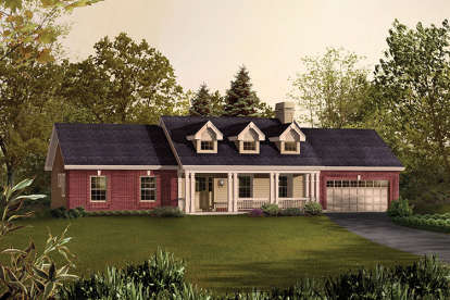3 Bed, 2 Bath, 1420 Square Foot House Plan #5633-00239