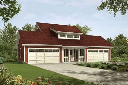 1 Bed, 1 Bath, 1026 Square Foot House Plan - #5633-00241