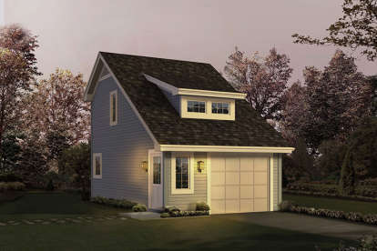 1 Bed, 1 Bath, 342 Square Foot House Plan - #5633-00242