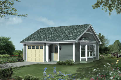 1 Bed, 1 Bath, 421 Square Foot House Plan #5633-00243