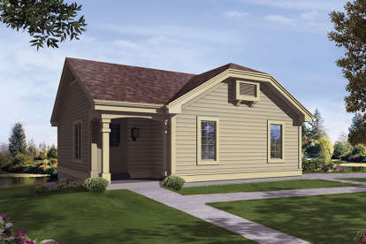 2 Bed, 1 Bath, 1142 Square Foot House Plan - #5633-00245