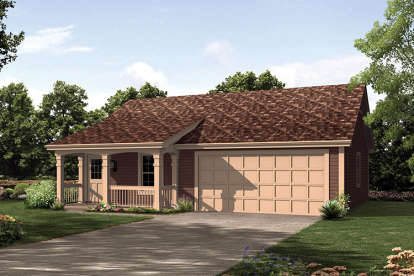 1 Bed, 1 Bath, 496 Square Foot House Plan - #5633-00246