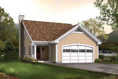 2 Bed, 1 Bath, 1137 Square Foot House Plan - #5633-00247