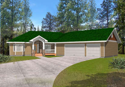 3 Bed, 2 Bath, 2045 Square Foot House Plan - #039-00375