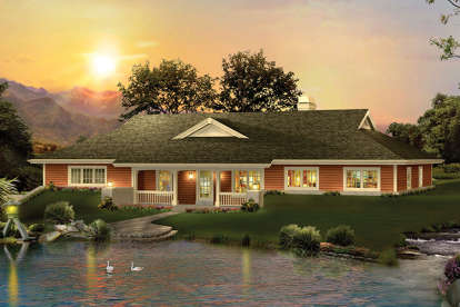 3 Bed, 2 Bath, 2163 Square Foot House Plan - #5633-00253