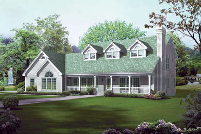 5 Bed, 4 Bath, 3346 Square Foot House Plan - #5633-00258