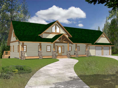 3 Bed, 2 Bath, 3167 Square Foot House Plan - #039-00376