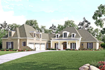 4 Bed, 4 Bath, 3360 Square Foot House Plan - #041-00129