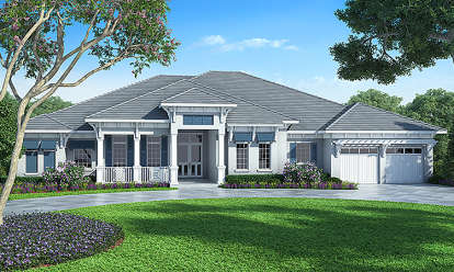 4 Bed, 4 Bath, 3731 Square Foot House Plan - #207-00018