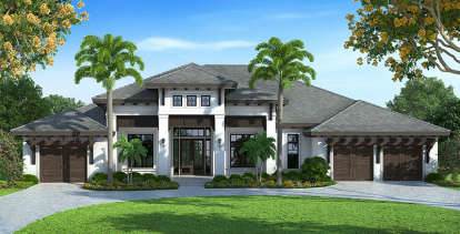 4 Bed, 4 Bath, 4599 Square Foot House Plan - #1018-00220