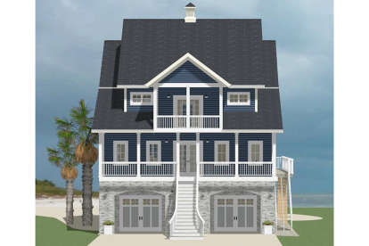 4 Bed, 3 Bath, 2515 Square Foot House Plan #6849-00024