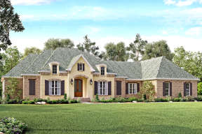 French Country House Plan #041-00130 Elevation Photo