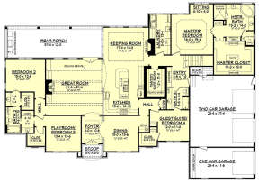 Main Floor Plan for House Plan #041-00130