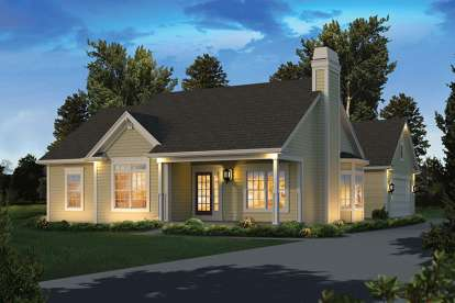 3 Bed, 2 Bath, 1308 Square Foot House Plan #5633-00272