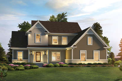 3 Bed, 2 Bath, 2240 Square Foot House Plan #5633-00278