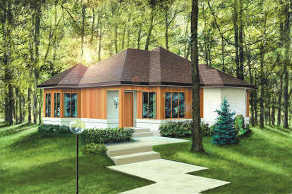 2 Bed, 1 Bath, 1063 Square Foot House Plan - #6146-00001