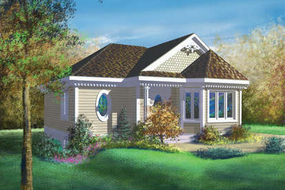 1 Bed, 1 Bath, 890 Square Foot House Plan - #6146-00005
