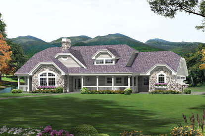 3 Bed, 2 Bath, 1915 Square Foot House Plan - #5633-00304