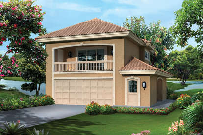1 Bed, 1 Bath, 1091 Square Foot House Plan - #5633-00311