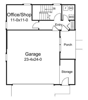 Main Floor Plan for House Plan #5633-00311