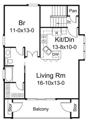 Upper Floor Plan for House Plan #5633-00311