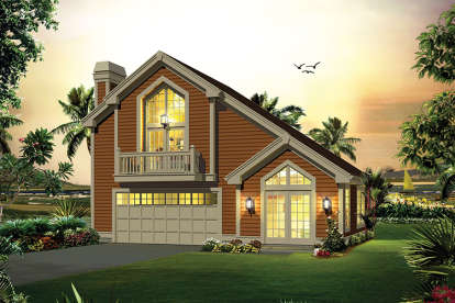 1 Bed, 1 Bath, 1028 Square Foot House Plan - #5633-00312