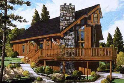 3 Bed, 2 Bath, 1114 Square Foot House Plan #033-00016