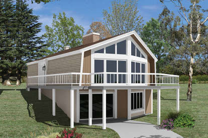 3 Bed, 2 Bath, 1806 Square Foot House Plan - #5633-00320