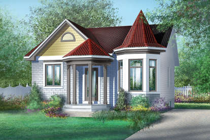 2 Bed, 1 Bath, 962 Square Foot House Plan - #6146-00008