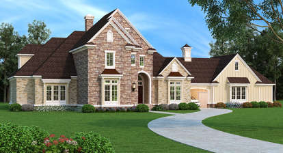 5 Bed, 4 Bath, 4654 Square Foot House Plan - #048-00250