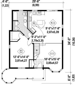 Main Floor Plan for House Plan #6146-00015