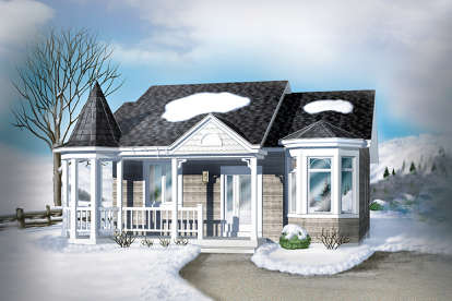 2 Bed, 1 Bath, 940 Square Foot House Plan - #6146-00016