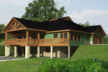 2 Bed, 2 Bath, 3685 Square Foot House Plan - #039-00573