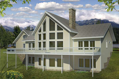 2 Bed, 4 Bath, 4040 Square Foot House Plan - #039-00575