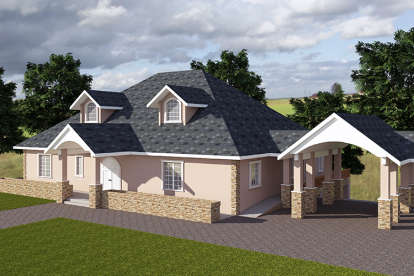 4 Bed, 5 Bath, 8904 Square Foot House Plan - #039-00576