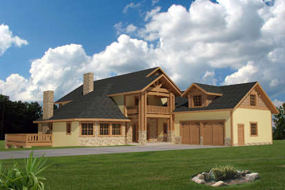 4 Bed, 4 Bath, 6970 Square Foot House Plan - #039-00578