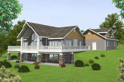 2 Bed, 2 Bath, 3685 Square Foot House Plan - #039-00580