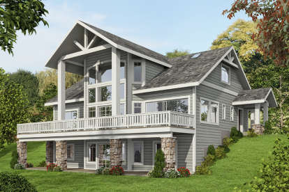 3 Bed, 3 Bath, 3695 Square Foot House Plan #039-00587