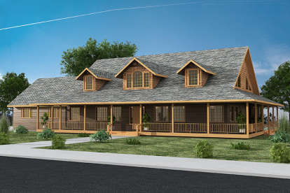 4 Bed, 4 Bath, 7518 Square Foot House Plan - #039-00590