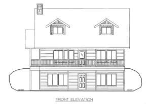 Traditional House Plan #039-00591 Elevation Photo